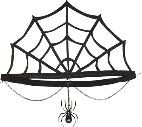Leg Avenue Women's Spider Web Crown Costume Accessory, Black, One Size]()
