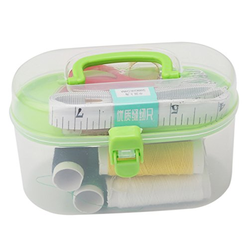 CH Random Multi-Color Home Portable Sewing Box Sewing Tools Kit Thimble Box Bag