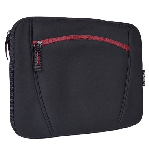 Neoprene Sleeve Cover with Pocket for Sony Vaio Tap 11 11.6-inch Tablet (Red)