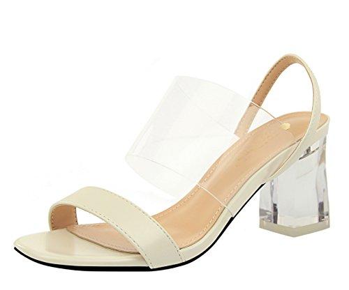 Femme 36 Ivoire Sandales pour MiyooparkUK 5 Blanc EU DS169 Miyoopark 5 xq18gXw