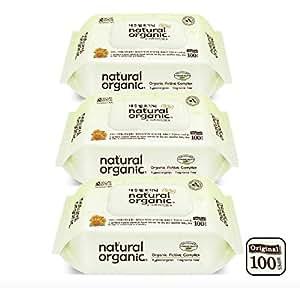 Lovesprings Natural Organic Original Plain Wet Wipes CAP - Bundle, 100 count (Pack of 3)
