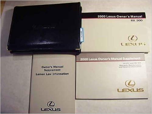 2000 Lexus Rx300 Owners Manual Pdf
