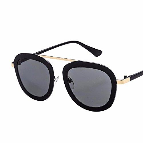 hombre de gafas de sol Gafas de Rosa retro sol nueva XIAOGEGE mujer gafas La espejo Negro personalizado zBvwqPY