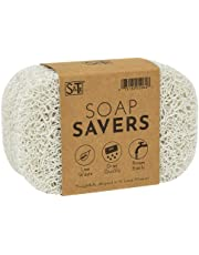 S&T BPA-Free Soap Savers for Kitchen and Bathroom, 4 Pack, White