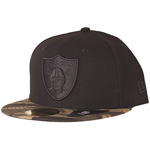 Camo 59fifty Fitted Cap - New Era 59Fifty Fitted Cap - WOOD CAMO Oakland Raiders - 7 1/4