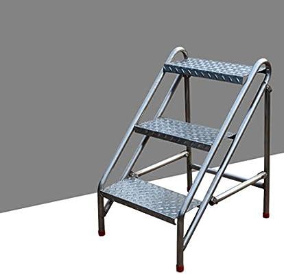 SMBYLL Escalera Taburete Escalera Simple Taburete Escalera Plegable Plegable de Acero Inoxidable Escalera en Espiga en casa Escalera en Espiga multifunción Escalera móvil Escalera Taburete Escalera: Amazon.es: Hogar