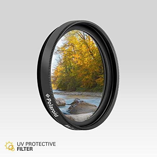 Slim Multi-Coated Glass Protective Ultraviolet Filter Absorbs Haze Improves Images /& Shields Lens from Atmospheric Damage Polaroid Optics 58mm UV Filter