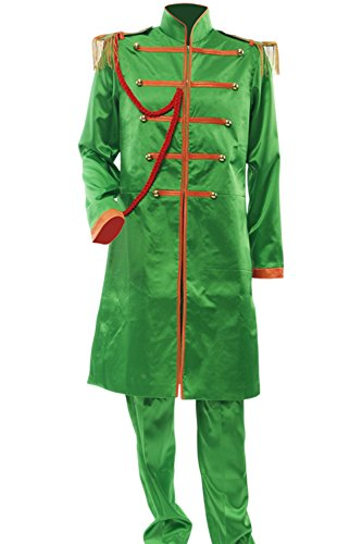 [Allten Men's Costume The Beatles John Lennon Jacket Pants Tailor Made] (Sgt Pepper Paul Costume)