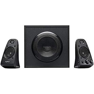 Logitech Z623 THX 2 1 Speaker System with Subwoofer  THX Certified Audio  400 Watts Peak Power  Deep Bass  Multi Device  3 5mm RCA Inputs  Easy Controls  PC PS4 Xbox DVD Player TV Smartphone Tablet