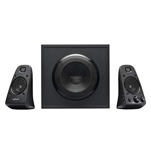 Logitech Z623 THX 2 1 Sistema de Altavoces con Subwoofer, Certificado THX Audio, 400 Vatios de Pico, Graves Potentes, Entradas de 3 5 mm/RCA, Enchufe EU, Multi-Dispositivos PC/PS4/Xbox/TV/Movil/Tablet
