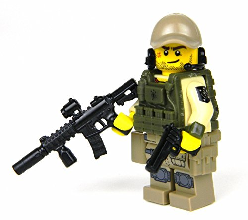 Marine Raider Special Forces Minifigure (SKU61)- Battle Brick Custom - Knife Raider Marine