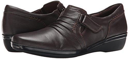 Clarks Women's Everlay Coda Flat, Dark Brown Leather, 8.5 M US