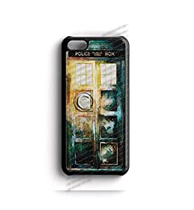 V02.51 | Watercolor Dr. Who Tardis Apple iPhone 5-C | - Tardis Police Call Box iPhone 5-C case - Best Quality Hard Plastic Case - AArt (Black Case)
