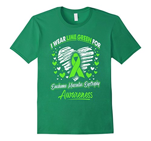 Mens I Wear Green For Duchenne Muscular Dystrophy Awareness Shirt Small Kelly Green