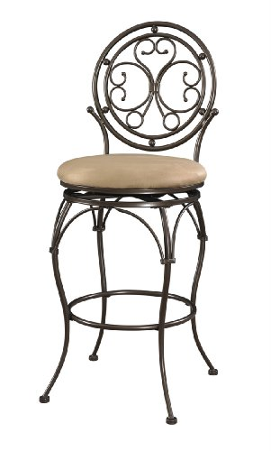 400 Lbs Capacity Commercial Grade Scroll Circle Back Barstool