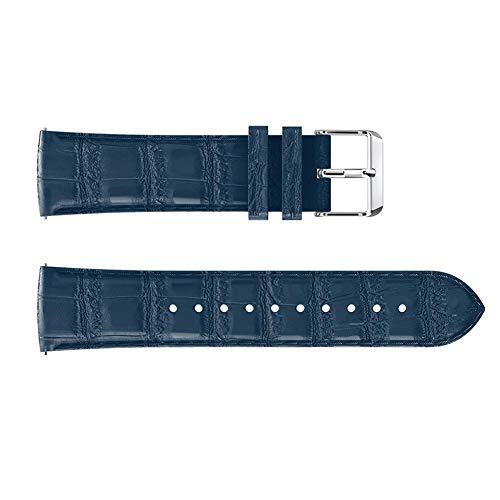 Heitaisi Crocodile Pattern Smart Watch Replacement Strap PU Leather Strap Watch Band Single-Circle Wristband for Fitbit Versa