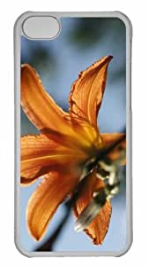 Customized iphone 5C PC Transparent Case - Tiger Lilly Personalized Cover