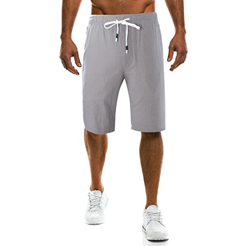 New Pure Color Pants Men's Drawstring Printing Loose Sports Pants SPE969