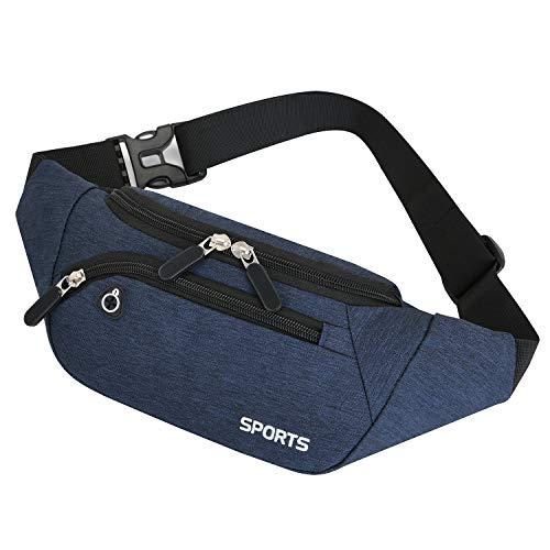 GERIINEER Waterdichte heuptas voor dames en heren, waterdichte heuptas met meerdere zakken, heuptas voor outdoorsporten…