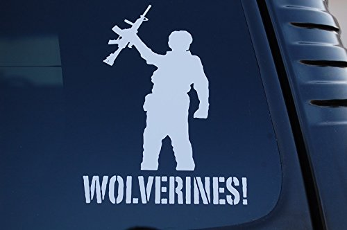 wolverines-vinyl-sticker-decal-choose-color-size-red-dawn-movie-car-window-v448-6-x-45-white