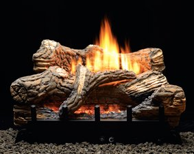 VFDM30LBN CERAMIC FIBER LOG SET WITH VENT-FREE BURNER 6-PIECE 30'' NATURAL GAS ONLY by Empire Comfort Systems