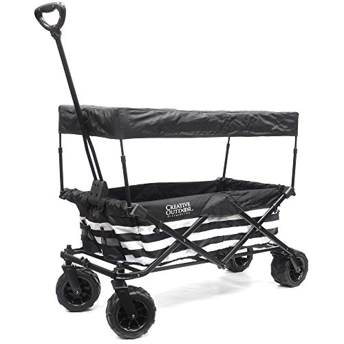 White Wagon Childs - Creative Outdoor Distributor Folding Wagon with Canopy Kit