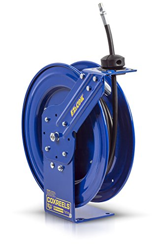 Coxreels EZ-P-HP-125 Safety Series Spring Rewind Hose Reel for grease/hydraulic oil: 1/4