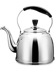 Stainless Steel Whistling Tea Kettle Stove Top Teapot Pot, Thin Base, Lightweight, Fast Boiling, 2.5L/2.6Qt - by AMFOCUS