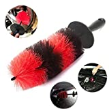 HNYRI 17'' 430mm Long Grille Wheel Brush Engine Wash Valet Car Cleaning Tools Car Styling Soft Bristle Rim Detailing Tire Brusher Motor