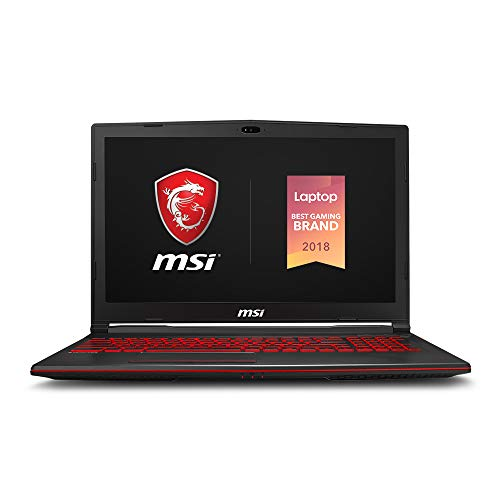 "MSI GL63 8SE-209 15.6"" Performance Gaming Laptop, NVIDIA GeForce RTX 2060 6G, 120Hz 3ms, Intel i5-8300H (4 cores), 16GB, 256GB NVMe SSD, Red Backlit KB, Win 10, Black"