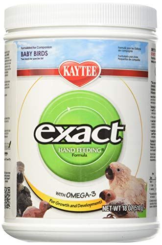 Kaytee (3 Pack) Exact Hand Feeding For Baby Bird, 18-Ounce Each