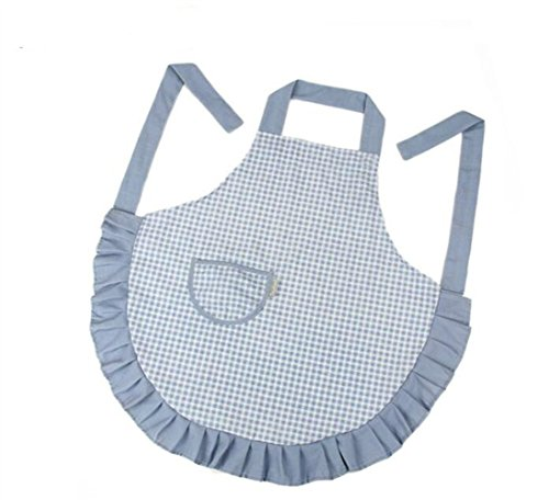 Goodscene Creative Apron Fashion Hanging Neck Apron Women Antifouling Thicken Apron (Blue) by Goodscene
