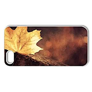 Leaf - Case Cover for iPhone 5 and 5S (Watercolor style, White)