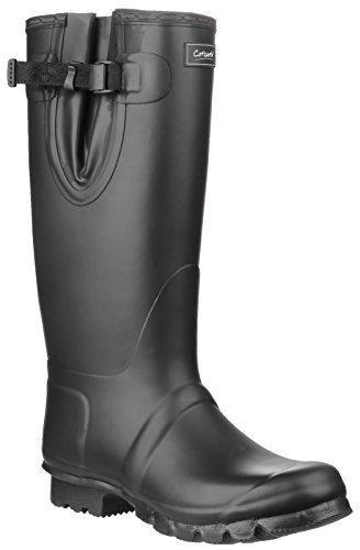 Cotswold Cotswold Mens Kew Neoprene Buckle Welly Wellington Boot Black Black Rubber UK Size 9 (EU 43) by Cotswold