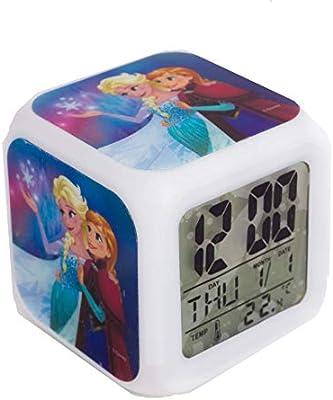 TBL fr33130 Despertador Color Changing Frozen Color Blanco: Amazon ...