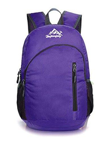 Ultraleichte tragbaren Haut Tasche Faltbare Rucksack Reisen Damen und Herren Outdoor Tourismus Wasserdichter Rucksack 20L klein violett
