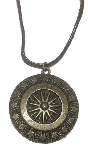 "DC+Comics Products : Wonder Woman Shield Bronze Finish Pendant on 18"" Black Cord"