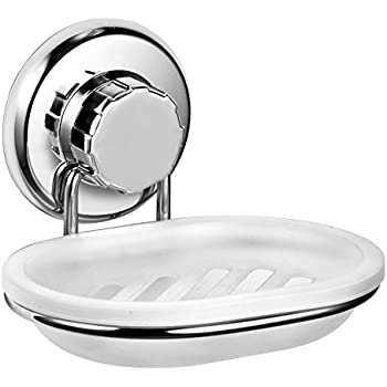 Charmant HASKO Accessories Vacuum Suction Cup Soap Dish Holder By Strong Stainless  Steel Sponge Holder For Bathroom U0026 Kitchen   Soap Caddy Can Be Mounted On  Any ...