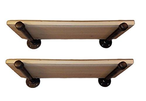 Cedar Bracket - 2Pcs. DIY Industrial Pipe Shelf Brackets, 10