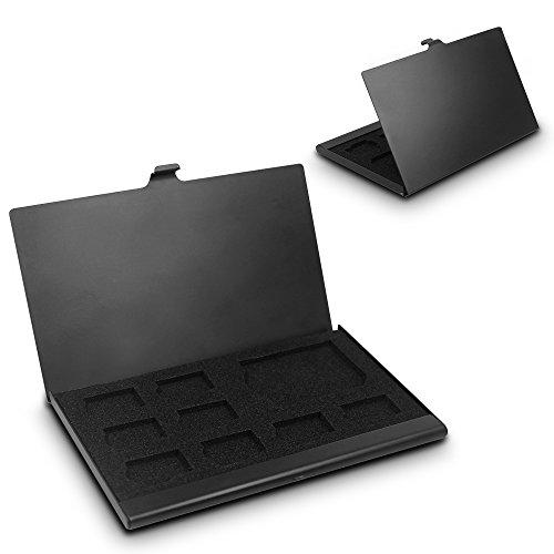 SD Memory Card Aluminum Case, SENHAI Micro SD Card Storage Protective Holder, 2 Pack - Black (Best Catalog Credit Cards)