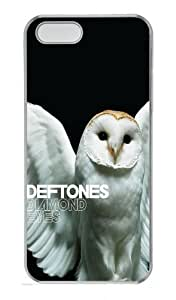 Deftones Diamond Eyes Owl Polycarbonate Plastic Hard Case for iPhone 5S and iPhone 5 Transparent