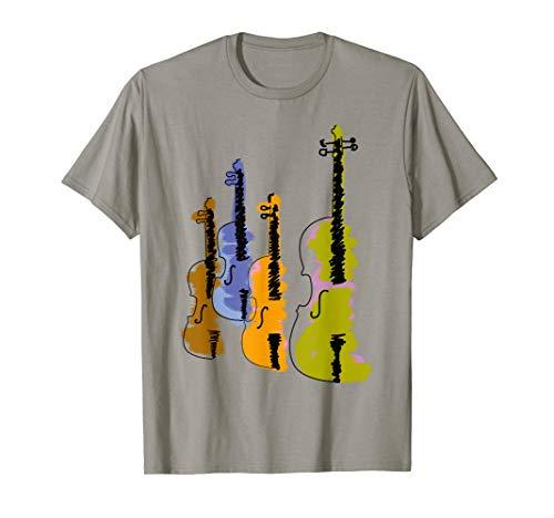 Vintage Violin Retro Fiddle Antique Instrument Music T-shirt