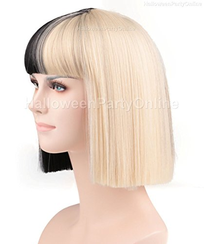 Halloween Party SIA Black Blonde Wig Small Costume Cosplay Online