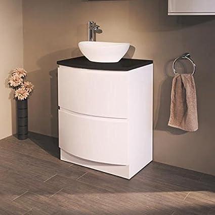 600 mueble de madera con Vessel lavabo para baños Ensuite - lavabo o ...