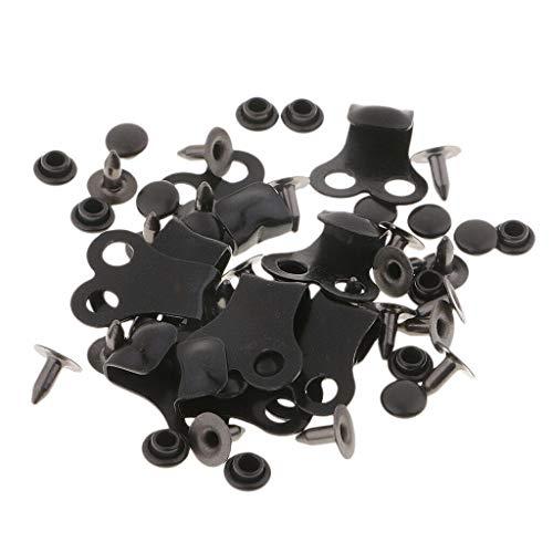 MOPOLIS 10 Sets Shoelace Boot Lace Hooks Lace Fittings Buckles Rivets Repair Parts | Color - Black -