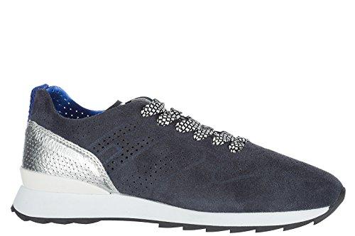 Hogan Rebel Dames Schoenen Sneakers Dames Suède Schoenen Sneakers R261 Blu