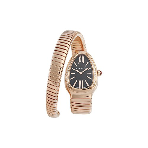 Bvlgari Serpenti Tubogas Black Opaline Dial 18k Pink Gold Quartz Ladies Watch 101815