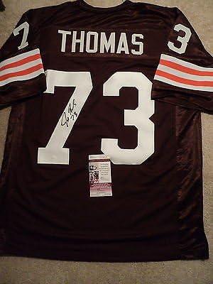 Joe Thomas signed Browns jersey, JSA, #73