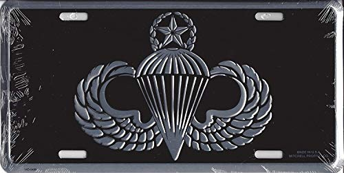 B.Fighting Army Master Paratrooper Wings License Plate