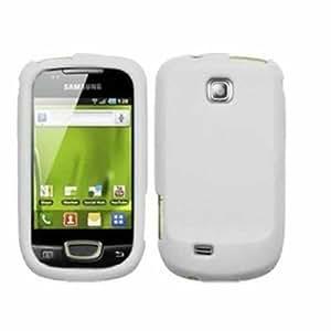 Silicona Caso Cubrir Concha Para Samsung Galaxy Mini S5570 / White